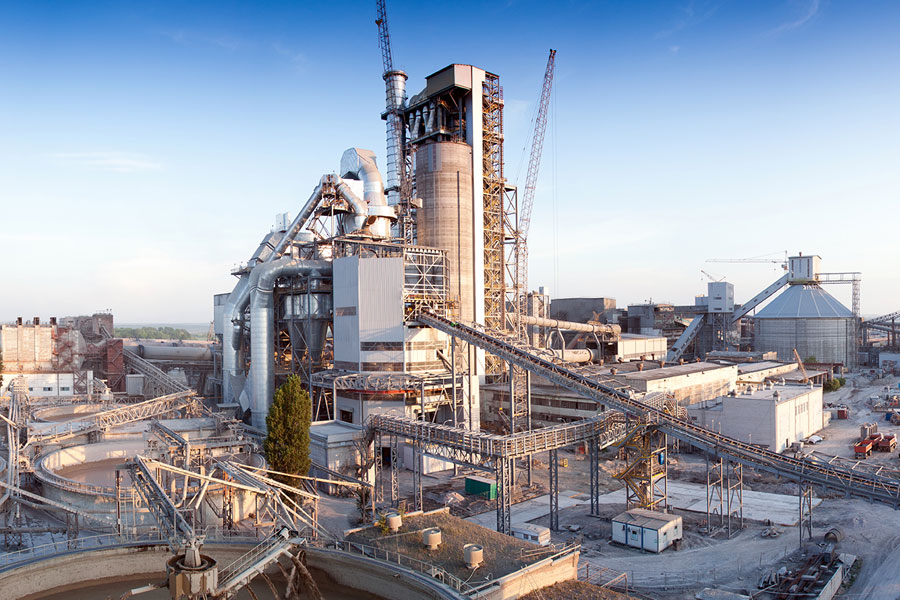 Cement-Fremstillings-Industrien